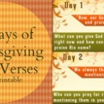 Family Fun Thanksgiving Bible Verse Countdown