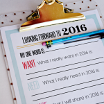 2016 New Year's Resolutions/Goals Printable