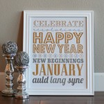 New Years Subway Art Printable