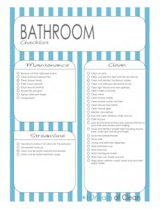 Free Bathroom Cleaning Checklist Printable 24 7 Moms