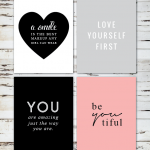 Free Love Yourself Printables