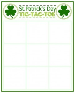 photo regarding Free Printable Tic Tac Toe Board called Totally free St. Patricks Working day Tic-Tac-Toe Printable - 24/7 Mothers