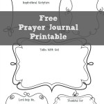 Free Prayer Journaling Page Printable