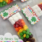 Free St. Patrick's Day Rainbow Skittles Treat Bag Printables