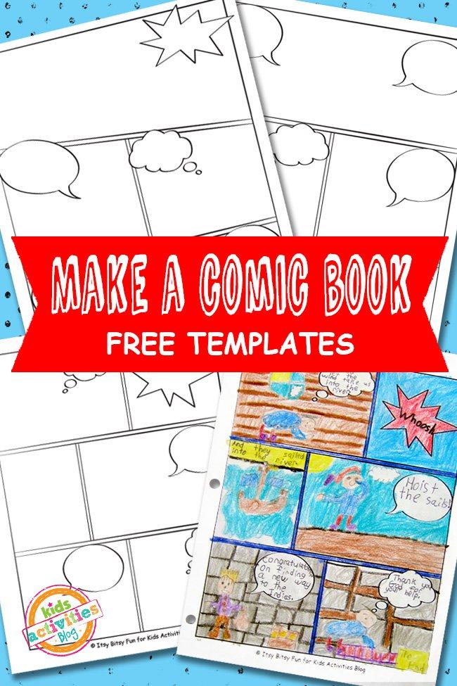 free comic book template printable 24 7 moms. Black Bedroom Furniture Sets. Home Design Ideas