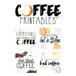 Free Coffee Subway Art Printables