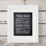 FREE Family Rules Printable