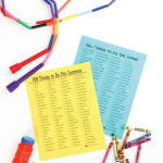 Free 100 Things to do this Summer Printable