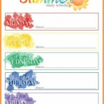 Free Summer Schedule Printable