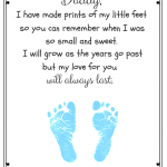 Free Father's Day Footprint Poem Printable
