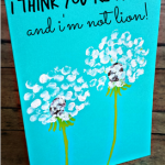 MOM Tip: Fingerprint Dandelion Card for Mom