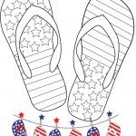 Free 4th of July Flip Flop Bunting Printable