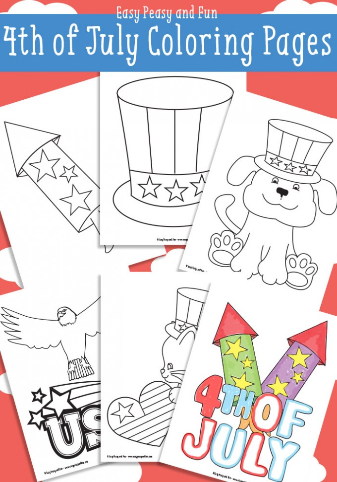 Free 4th of July Coloring Page Printables - 24/7 Moms