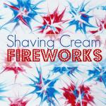MOM Tip: Shaving Cream Fireworks Art