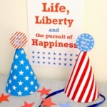 Free Printable Party Hats for the 4th of July