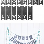 Free Chalkboard Letters Cake Bunting Printable