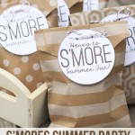 Free Smores Summer Party Goodie Bag Printables