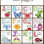 Free A-Z Dot Page Printables