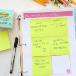 Back to School Organization with Free Printables and  Post-It Notes