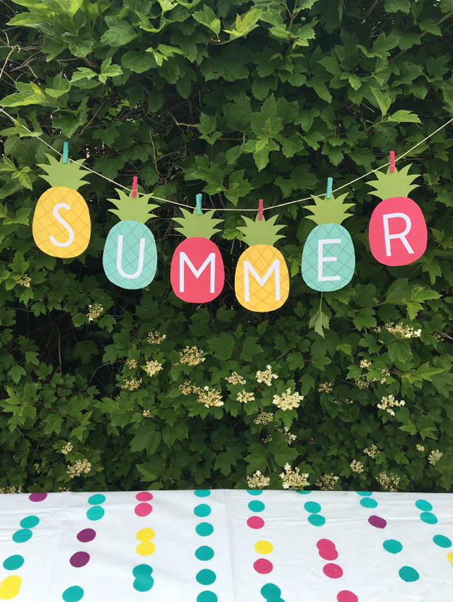image relating to Free Printable Pineapple named Cost-free Pineapple Summer time Banner Printable - 24/7 Mothers
