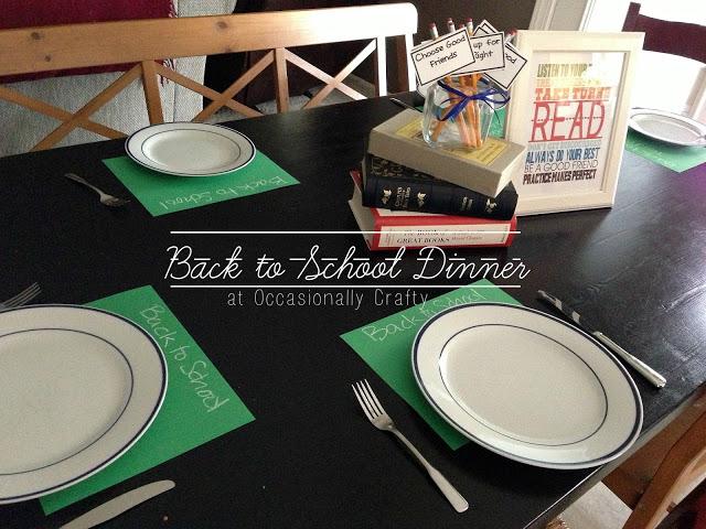 Back to School Dinner 1