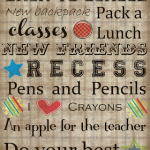 Free Back to School Subway Art Printable