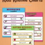 Free Kids Routine Chart Printables