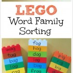 MOM Tip: LEGO Word Family Sorting