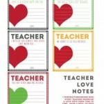 Free Teacher Note Printables