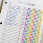 Free Monthly Bill Payment Checklist Printable