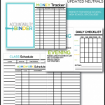 Free Mini Accountability Binder Printables