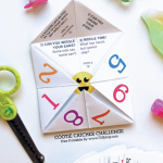 Free Cootie Catcher Challenge Game Printable