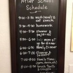 Back to School Tip: The After School Schedule Board