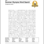 Free Summer Olympics Word Search Printable