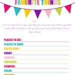 Free These Are a Few of My Favorite Things Printable