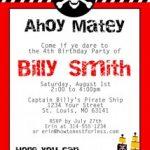 Free Pirate Themed Birthday Printables
