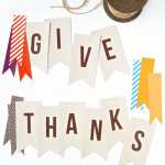 Free Give Thanks Banner Printable