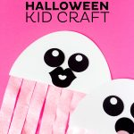 Free Ghost Halloween Kid Craft Printable