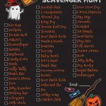 Free Halloween Candy Scavenger Hunt Printable