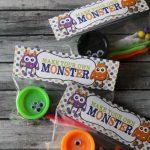 Play-doh Monster Kit Idea & Free Tag Printable