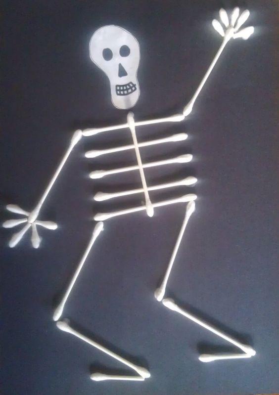 Mom tip q tip skeleton halloween craft for kids 24 7 moms for Q tip skeleton template