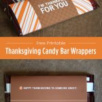 Free Thanksgiving Candy Bar Wrapper Printable