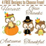 Free Owl Thanksgiving Printables