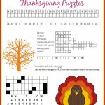 Free Thanksgiving Puzzle Printables