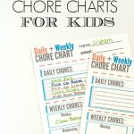 Free Chore Chart For Kids Printable