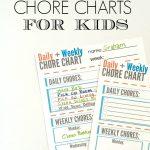 Free Chore Chart For Kids Printable