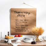 MOM Tip: Display Your Thanksgiving Menu: Banner-Style