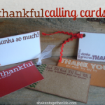 Free Thankful Calling Card Printables