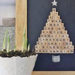 DIY Scrabble Art For Christmas