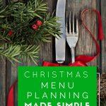 Free Holiday Menu Planner